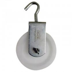 Roldana Plástica  4cm com Gancho