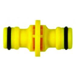 Emenda União Dupla para engate rápido amarela